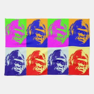 Gorilla Pop Art Tea Towel