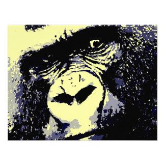 Gorilla Portrait Custom Announcement