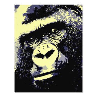 Gorilla Portrait Flyer Design