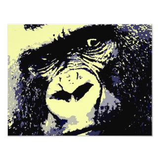 Gorilla Portrait 11 Cm X 14 Cm Invitation Card