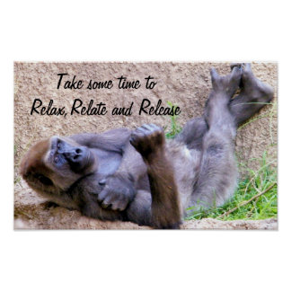 Gorilla, relax,relate,release_ poster
