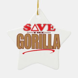 Gorilla Save Christmas Ornament
