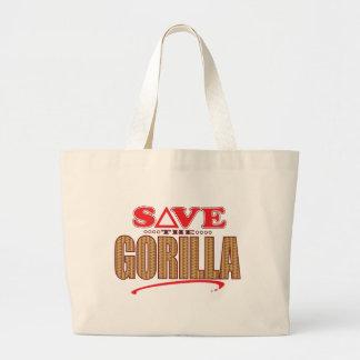 Gorilla Save Large Tote Bag