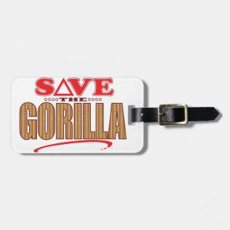 Gorilla Save Luggage Tag