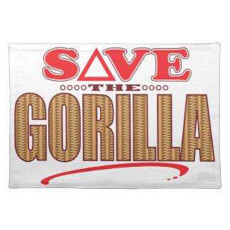 Gorilla Save Placemat