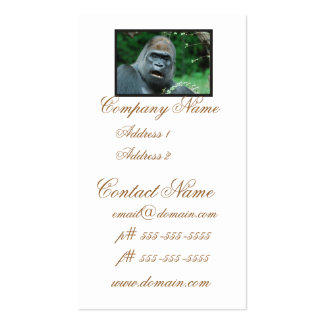 Gorilla Shock Business Cards