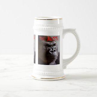 Gorilla Silverback The Boss King Sized Stein Mugs