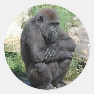 Gorilla Sitting Sticker