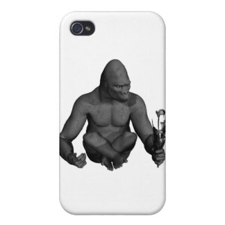 Gorilla Sitting with a flower iPhone 4/4S Cover