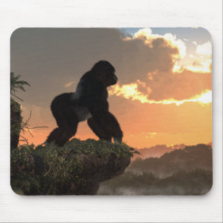Gorilla Sunset Mouse Mat