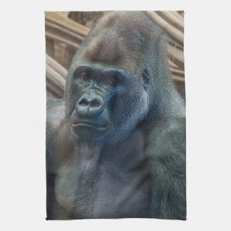 Gorilla up close kitchen towel