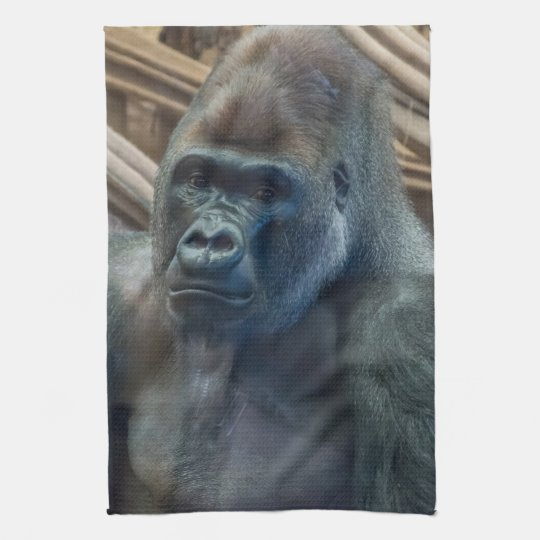 Gorilla up close kitchen towel