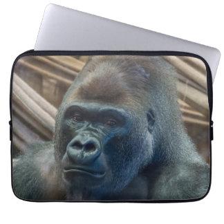 Gorilla up close laptop sleeve