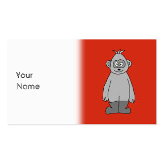 Gorilla Wearing Boots. Pack Of Standard Business Cards