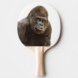 Gorilla wild jungle animal photo ping pong paddle
