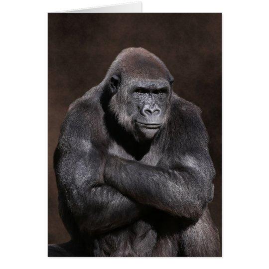 Gorilla with Attitude Blank Card