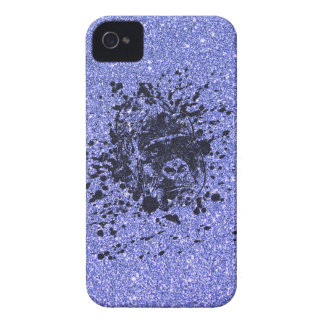 Gorilla with Blue Glitter iPhone 4 Cases