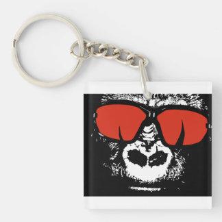 Gorilla with glasses key ring