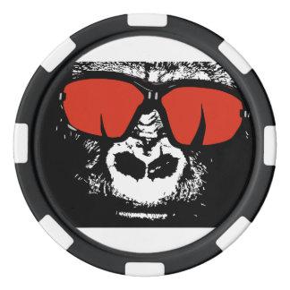 Gorilla with glasses poker chips