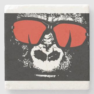 Gorilla with glasses stone coaster