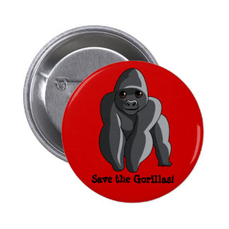 Gorillas 6 Cm Round Badge