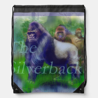 Gorillas in Our Midst Drawstring Bag