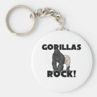 Gorillas Rock Key Ring