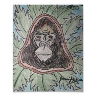 Gorillla Color Pencil Photographic Print