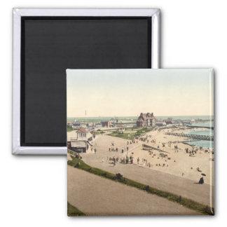 Gorleston Beach II, Norfolk, England Square Magnet