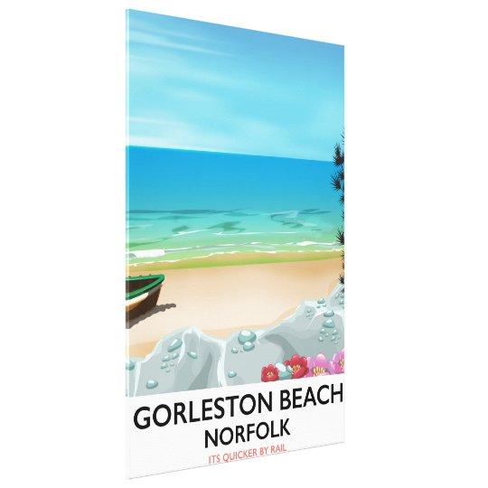 Gorleston Beach Norfolk Rail poster. Canvas Print