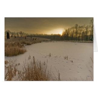 Gorman Winter Sunrise Card