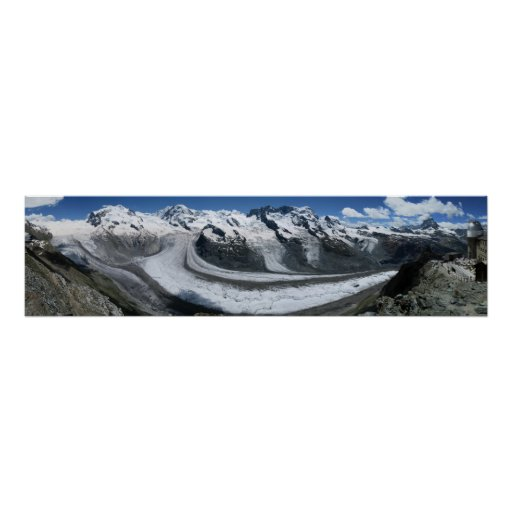 Gornergrat Zermatt Monte Rosa Poster