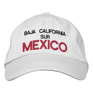 GORRA VARONIL BAJA CALIFORNIA SUR MEXICO EMBROIDERED HATS