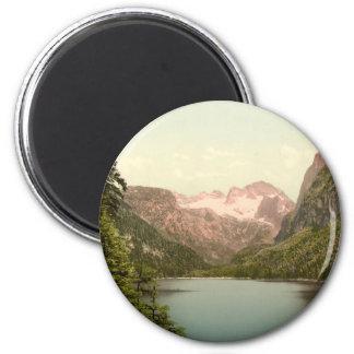 Gosausee and Dachstein, Austria 6 Cm Round Magnet