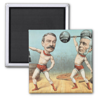 Goschen and Ritchie, the Champion Weight Square Magnet