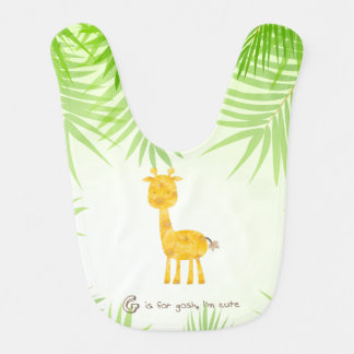 Gosh Darn Cute Sunflower Giraffe Bib