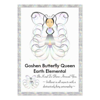 Goshen Butterfly Queen Trading Card Pack Of Chubby Business Cards