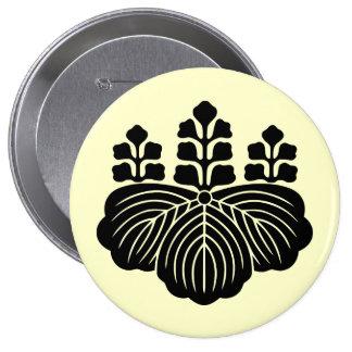 Goshichi no kiri, Japan 10 Cm Round Badge