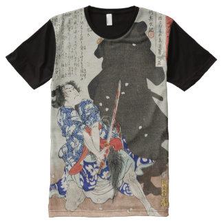Gosho Gorozo Battling Shadow Yoshitoshi Fine Art All-Over Print T-Shirt