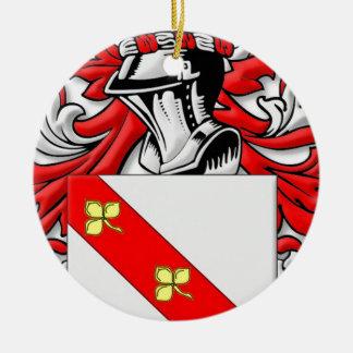 Goslee Coat of Arms Round Ceramic Decoration