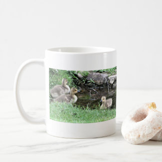 Goslings at a Pond Coffee Mug