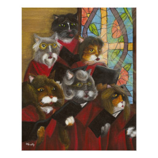 Gospel Choir Cats poster