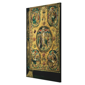 Gospel cover, gold with repousse canvas print