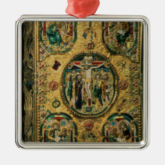 Gospel cover, gold with repousse christmas ornament