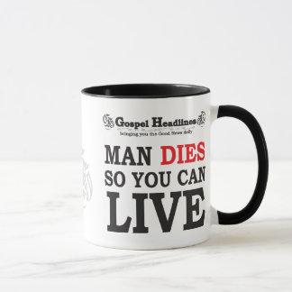 Gospel Headlines Christian mug