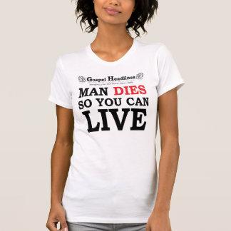 Gospel Headlines lady's destroyed t-shirt