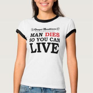 Gospel Headlines lady's ringer t-shirt