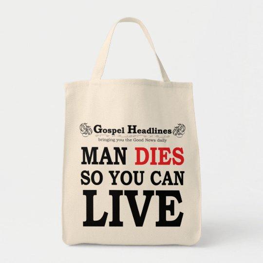 Gospel Headlines Tote Bag