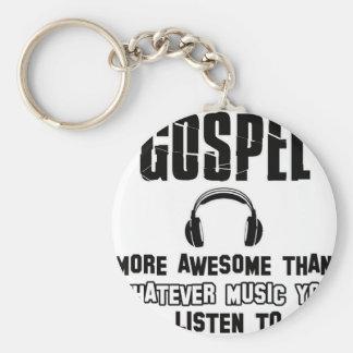 gospel music design key chain
