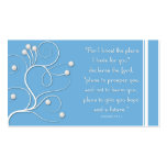 Gospel Tract Plan of Salvation Blue Swirl Pack Of Standard Business Cards